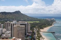 View of Diamond Head and Waikiki Beach. Check out http://sightsofthecity.com/oahu for travel tips on the Hawaiian Islands.