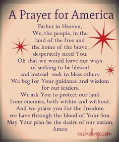 Prayer for America!