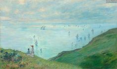 Claude Monet: Cliffs at Pourville, 1882. Oil on canvas, 60 x 100 cm. National Gallery of Art, Washington