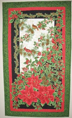 Christmas Wall Hanging or Table Topper by PicketFenceFabric, $42.00