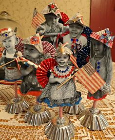 I finally finished up my little patriotic paper dolls of my grandpies. Ive only been able to work on them a few minutes at a time over. Fourth Of July Decor, 4th Of July Decorations, 4th Of July Party, July 4th, Patriotic Images, Patriotic Crafts, July Crafts, Americana Crafts, Holiday Crafts