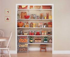 Kitchen Closet Shelving Ideas For Your Home On Step Stool On Small Pantry Closet Organizer Kitchen Pantry Ideas Kitchen Small Pantry Closet, Pantry Closet Organization, Pantry Laundry Room, Pantry Shelving, Pantry Storage, Laundry Room Design, Kitchen Pantry, Kitchen Storage, Open Pantry