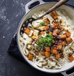Creamy Sweet Potato and Halloumi Pasta   10 Scrumptious Ways To Serve Halloumi Cheese This Winter Season