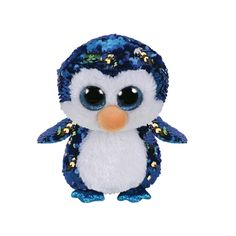 ecc7f70dbbc Payton The Blue Penguin Flippable Regular is part of the Flippable Beanie  Boos collection from Ty. Flippables are plush animals covered with sequins  and ...