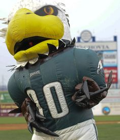 ae7242a3a Swoop the Philadelphia Eagles mascot is joined by an inflatable  counterpart