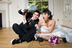 Stephanie and Jerred's Gamer Wedding. Photos by True Love Photos.