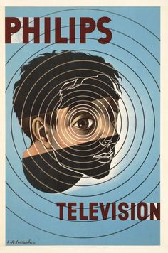 """""""Philips Television"""" Poster by Adolphe Mouron Cassandre (1955)"""