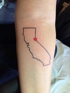 Simple State of California Tattoo. Tahoe