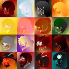 Team RWBY's Symbols RWBY Rwby symbols, Rwby, Team rwby