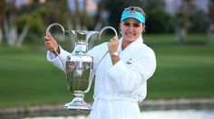 LEXI THOMPSON WINS THE 2014 KRAFT NABISCO CHAMPIONSHIP Thompson's final-round 68 gave her the three-shot victory over Michelle Wie for her first major championship. Description from pinterest.com. I searched for this on bing.com/images