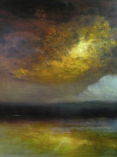 "Saatchi Online Artist: Maurice Sapiro; Oil, 2010, Painting ""Cloudburst"" #art"