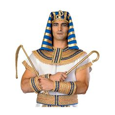 Buy Regency Collection King Tut Costume Dlx Egyptian Pharaoh Halloween Fancy Dress at online store Halloween Makeup For Kids, Zombie Halloween Costumes, Kids Makeup, Halloween Costume Accessories, Halloween Fancy Dress, Adult Costumes, Pharaoh Costume, Egyptian Pharaohs, Gold Collar