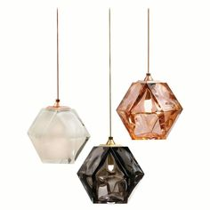 Our new WELLES Double-Blown Glass Pendants, in alabaster-white, smoked-gray and California-rose. Chandeliers, Chandelier Pendant Lights, Modern Chandelier, Track Lighting Fixtures, Cool Lighting, Lighting Design, Light Fixtures, Lighting Ideas, Lighting Solutions