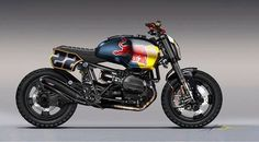 Crazy redbull scrambler typ urban Moto with offroad tyres and custom led headlights (BYKE- BMW RnineT Red Bull Concept) Concept Motorcycles, Bmw Motorcycles, Custom Motorcycles, Custom Bikes, Bmw Scrambler, Scrambler Custom, Cb750, Bmw Boxer, Bmw Cafe Racer