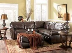 Olympic Leather Living Room Sectional Sofa