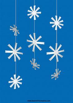 Sagome fiocchi di neve per decorazioni