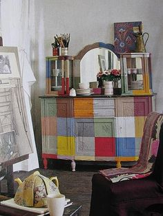colors painted furniture - interiors-designed.com