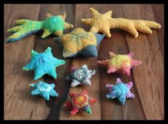 Knitting: Stars Stars Stars  These are knitted, but for inspiration, colors.