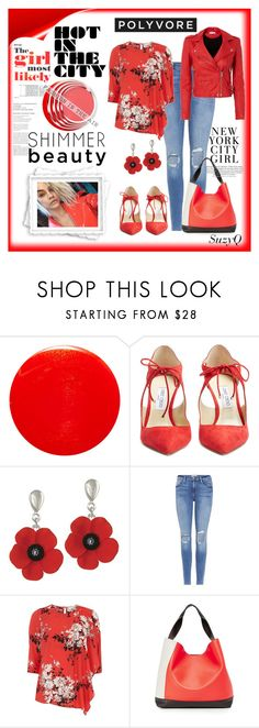 """HOT in NYC 🔥"" by polyvore-suzyq ❤ liked on Polyvore featuring Yves Saint Laurent, Jimmy Choo, Capelli New York, Frame, Billie & Blossom, Marni and IRO"