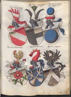Grünenberg, Konrad: Das Wappenbuch Conrads von Grünenberg, Ritters und Bürgers zu Constanz um 1480 Cgm 145 Folio 188