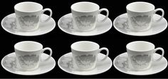 Lucca Set Of 6 Demi Cups & 6 Saucers. Set Of 6 White Espresso Cups And Plates in Home, Furniture & DIY, Cookware, Dining & Bar, Tableware, Serving & Linen | eBay