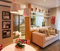 Cozinha e Sala   Apartamentos pequenos   Divisória entre sala e cozinha   Decoração