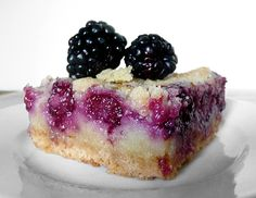 Blackberry Pie Bars - I've never baked with blackberries.  I can't wait to try this recipe.