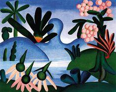 Tarsila do Amaral  (Brazilian, 1886 -1973) - O Lago (The Lake), 1928