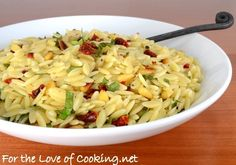 Orzo with Sun-Dried Tomato, Pine Nuts, and Basil