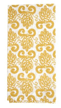 pineapple tan kitchen towel