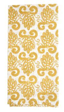 pineapple tan kitchen towel