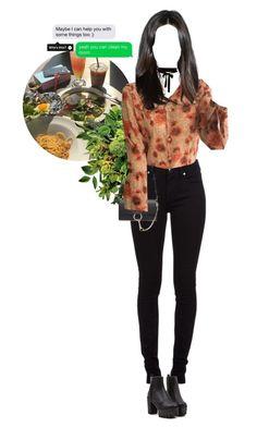 """lunch - jieun"" by softmx ❤ liked on Polyvore featuring Burberry, Chloé and hajieun"