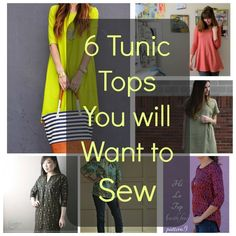 6 Tunic Tops You Will Want to Sew Using Free Patterns