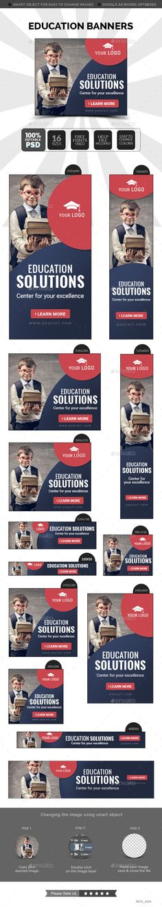 Education Banners Template #design #ads Buy Now: http://graphicriver.net/item/education-banners/12833221?ref=ksioks