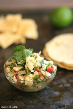 Ceviche with Tilapia, Scallops and Shrimp. The perfect summer meal for nights that are too hot to cook.