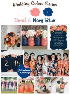 Coral Wedding Decorations, Coral Wedding Themes, Navy Wedding Colors, Wedding Color Pallet, Beach Wedding Centerpieces, Blue Wedding, Fall Wedding, Dream Wedding, Wedding Ideas
