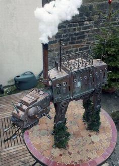 Funny pictures about Steampunk AT-AT. Oh, and cool pics about Steampunk AT-AT. Also, Steampunk AT-AT. Amour Star Wars, Maquette Star Wars, Steampunk Gears, Steampunk Artwork, Steampunk Theme, Steampunk Characters, Steampunk Weapons, Dieselpunk, Metal Art