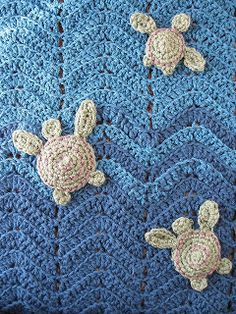 Crochet Turtle Applique Inspiration