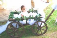 White Wooden Wagon For Wedding