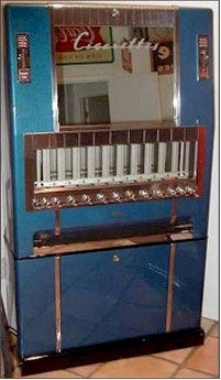 Cigarette vending machines - just about forgot these things existed, I remember them being in the entrances of cafes.