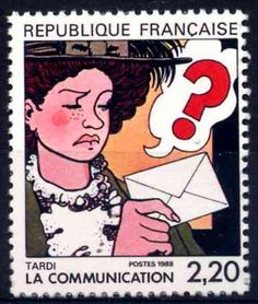 Tardi, Jacques - timbre postal 1988 (série La communication)