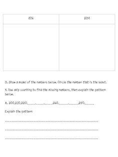 Expanded Form Worksheets Grade 2 NO PREP!