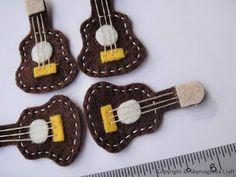 felt guitar on ben's stocking