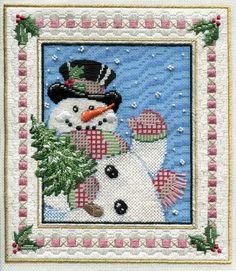 hey ya! by sandra gilmore needlepoint stitches snowman