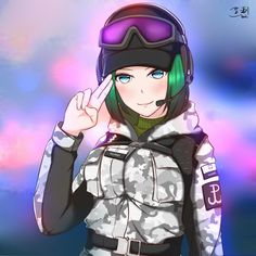 Resultado de imagem para shadman Games t Anime Rainbow Six Siege Anime, Rainbow Six Siege Memes, Rainbow 6 Seige, Tom Clancy's Rainbow Six, Rainbow Art, Rainbow Stuff, Anime Military, Military Girl, Anime Girls