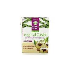 La crema di soia Vegetal Cusine è un'ottima alternativa alla panna tradizionale perchè più leggera, senza grassi e senza colesterolo. OK PRONTUARIO A.I.C (ASSOCIAZIONE ITALIANA CELIACI)