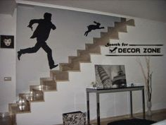 Staircase Wall Decor if you've ever wanted to use the amazing effect of 3d wallpaper