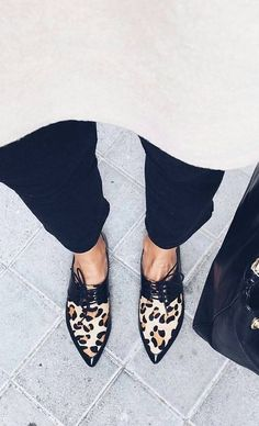 Black + Leo Pointy Loafers                                                                             Source