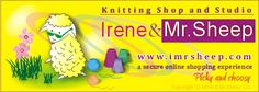 IRENE & Mr.SHEEP Knitting Shop and Studio, Toronto, Canada.  Natural and organic premium designer yarns for hand knitted fashion, knitting publications, wool care products, needles, notions, knitting and fashion accessories, Knitwear Boutique, Gift Shop, Specialty Items.