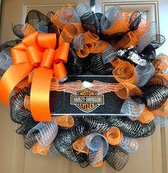 Harley Davidson Motorcycles Wreath by marinascustomdesigns on Etsy, $50.00